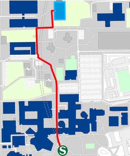 Fußweg EA Büro